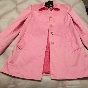 Coach pink coat size medium